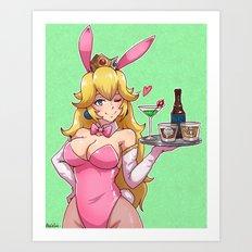 Peachy Bunny Art Print