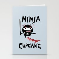 Ninja Cupcake Stationery Cards