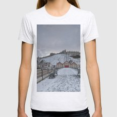 Saltburn by the Sea Womens Fitted Tee Ash Grey SMALL