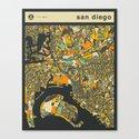 SAN DIEGO MAP Canvas Print