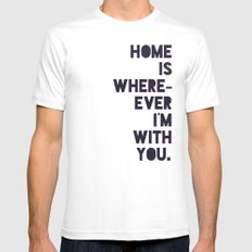 With You SMALL Mens Fitted Tee White