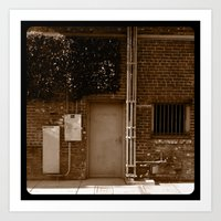 Electrical room. Art Print