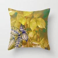 leaves evolved 1 Throw Pillow