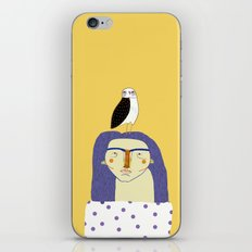 Women and Owl, owl art, people, illustration, fashion, style,  iPhone & iPod Skin