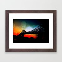 A moment in time Framed Art Print