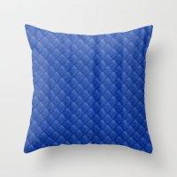 Blue Diamond Pattern Cur… Throw Pillow