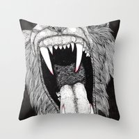 Roar! Throw Pillow