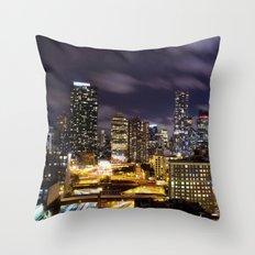 It's Night in New York City Throw Pillow