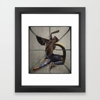 you can barrow my jeans but you have to wash them after Framed Art Print