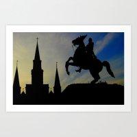 Landmark Silhouettes in Casa de Armas Art Print
