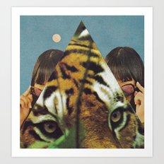 Tiger's EYE Art Print