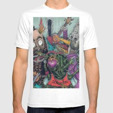 Sid Squish and the Death Collectors White SMALL Mens Fitted Tee
