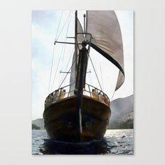 Gulet Under Sail Canvas Print