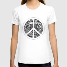Peace Womens Fitted Tee White SMALL