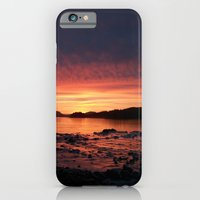 iPhone & iPod Case featuring Frozen Sunset by Allison Baskett