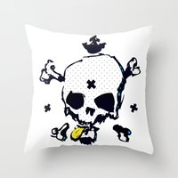 XXX Skull C Throw Pillow