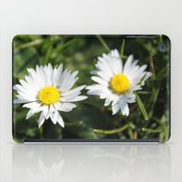 wild white daisy flowers. floral photography. iPad Case