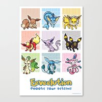Eeveelutions Canvas Print