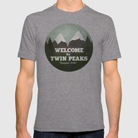 Welcome To Twin Peaks Mens Fitted Tee Tri-Grey SMALL