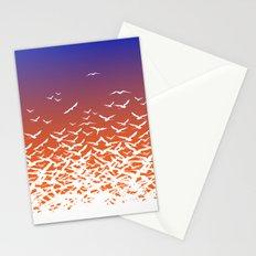 Bird Frenzy at Sunrise Stationery Cards