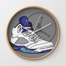 Jordan 5 (Grape) Wall Clock