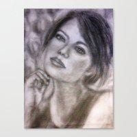 Pencil Portrait Drawing … Canvas Print
