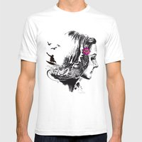 SURFHAIR Mens Fitted Tee White SMALL
