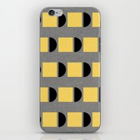 shapes in yellow, grey and black iPhone & iPod Skin