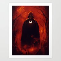 Heart Vader Art Print