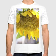 Take Cover [SUNFLOWER] Mens Fitted Tee SMALL White