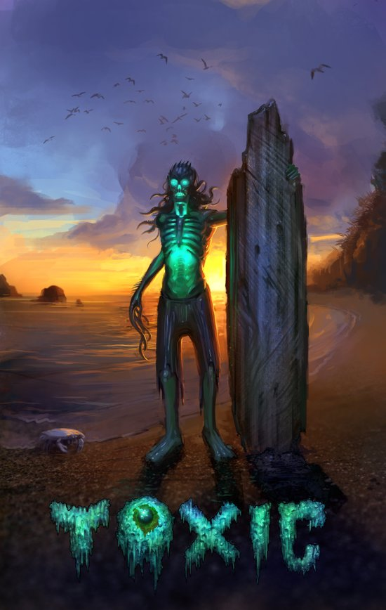 Toxic Surfer Art Print