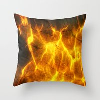 Watery Flames Throw Pillow