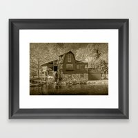 The Peterson Mill In Sep… Framed Art Print