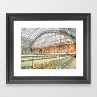 St Pancras Station London Framed Art Print
