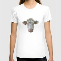 cow T-shirts featuring COW by Laura Maria Designs