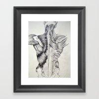 Human Structure Framed Art Print