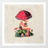 Shroom Girl Art Print