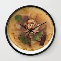 Cabbage Soup With Squid,… Wall Clock