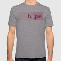 Hope's Heart - Pink Mens Fitted Tee Athletic Grey SMALL