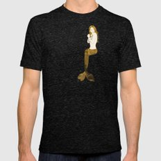 Golden Siren Mens Fitted Tee Tri-Black SMALL