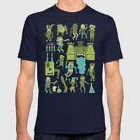 Wow! Frankensteins! Mens Fitted Tee Navy SMALL