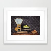 Apples On The Scale Framed Art Print