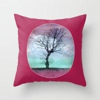 ATMOSPHERIC TREE - Winte… Throw Pillow