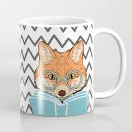 Reading Fox Mug
