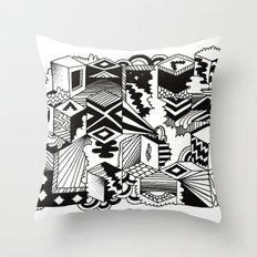 Cube-ular Throw Pillow