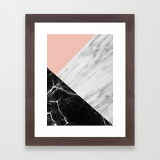 Marble Collage Framed Art Print