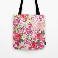 Antique Floral Print On … Tote Bag