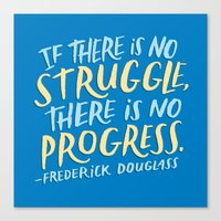 Frederick Douglass on Progress Canvas Print