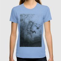 Fly Away Womens Fitted Tee Athletic Blue SMALL