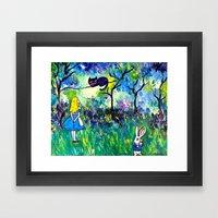 Alice in Wonderland Monet-style Framed Art Print